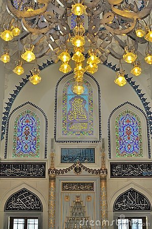 Turkish mosque interior design