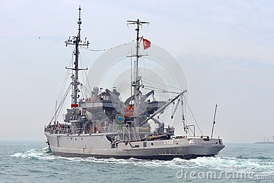 Turkish Navy TCG ISIN Editorial Stock Image