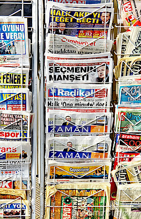Turkish Newspapers Editorial Stock Image