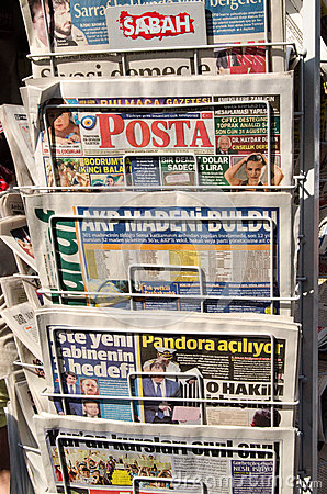 Turkish Newspapers Editorial Photography