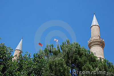 Turkish and North Cyprus flags
