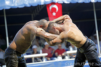 Turkish Oily Wrestling Editorial Photo