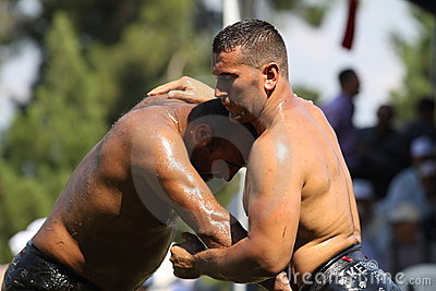 Turkish Oily Wrestling Editorial Stock Photo