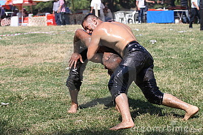 Turkish Oily Wrestling Editorial Image