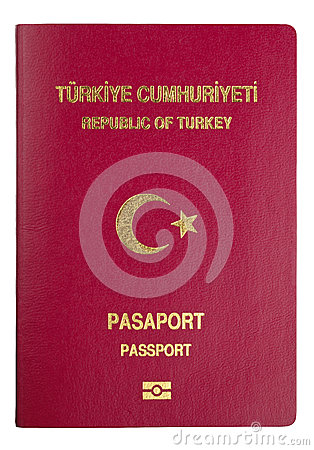 Turkish passport cover - clipping path