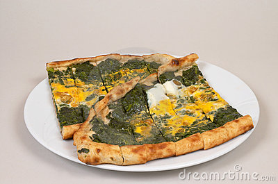 Turkish pide - spinach