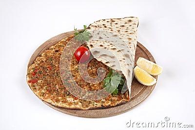 Turkish pizza - Lahmacun