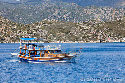 Turkish pleasure boat