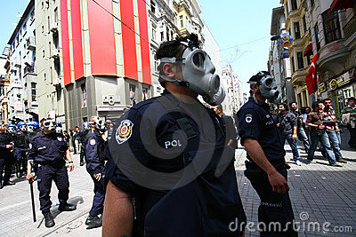 Turkish Riot Police Editorial Photography