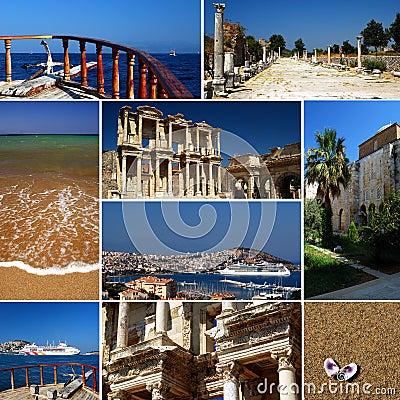 Turkish riviera - tourism collage