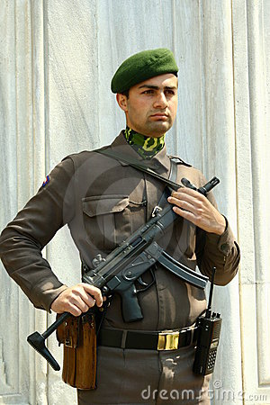 Turkish soldier Editorial Stock Photo