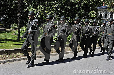 Turkish Soldiers Marching Editorial Photo