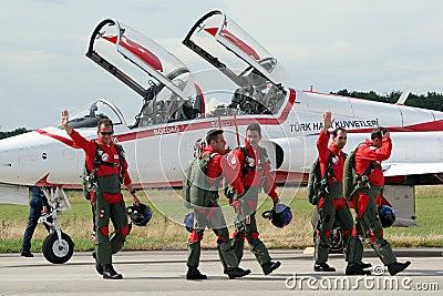 Turkish Stars pilots Editorial Photo