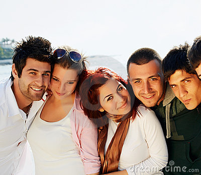 Turkish Students At The Sea Royalty Free Stock Images - Image: 14388119