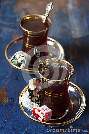 Free Turkish Tea And Delights Stock Image - 39325301