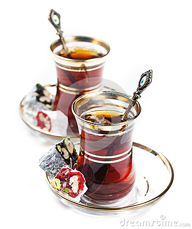 Free Turkish Tea And Delights Stock Photos - 39325313