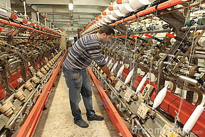 Turkish Textile Factory Editorial Stock Image