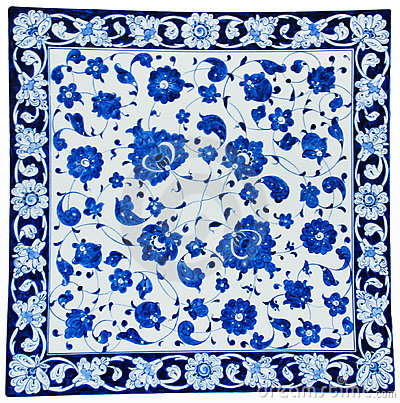 Turkish Tiles - Floral Design Royalty Free Stock Photo - Image