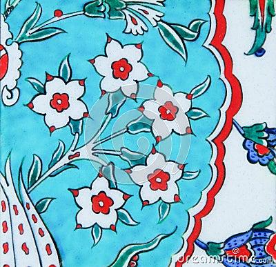 Turkish tiles - floral design