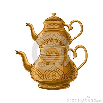 Free Turkish Traditional Antique Decorated Copper Teapot   Royalty Free Stock Photo - 102299575