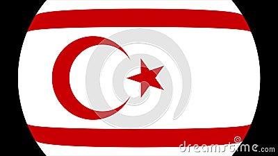Turkisk republik av den nordliga Cypern flaggaövergången 4K stock illustrationer