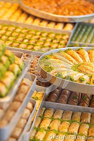 Turkisk söt baklava