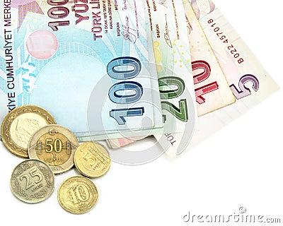 Turkiska sedlar och mynt