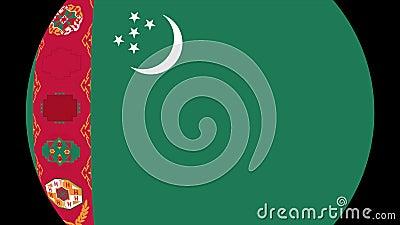 Turkmenistan flaggaövergång 4K vektor illustrationer
