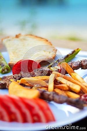 Turkse Shish kebab