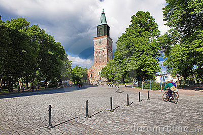 Turku Cathedral, Finland Editorial Photo