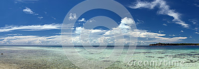 Turkusowego Tropikalnego Polinezyjskiego raju palm beach oceanu kryształu Denna woda Borneo Indonezja