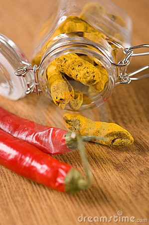 Turmeric and chili pepper