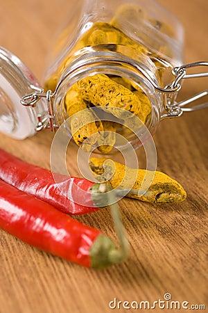 Turmeric and chili pepper