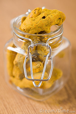 Turmeric in a glass jar