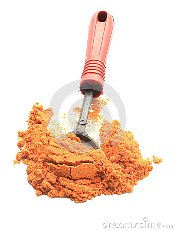 Turmeric powder with spoon
