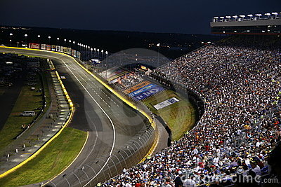 Turn 2 and backstretch at lowes motor speedway editorial for Lowe s motor speedway