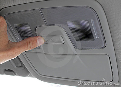 Turn on light switch in the car