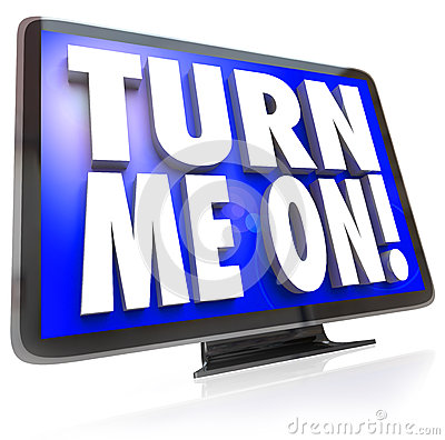 Free Turn Me On Words TV HDTV Television Watch Program Royalty Free Stock Image - 31478346