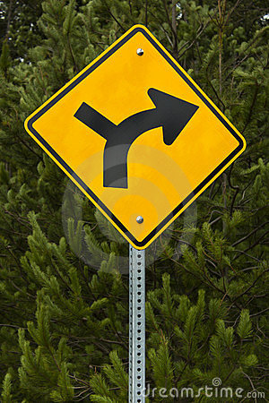 Turn right Road Sign