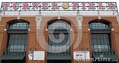 Turner Field baseball sign Editorial Photography