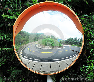 Turning angle mirror