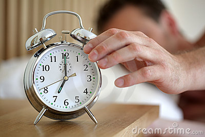 Turning off an alarm clock