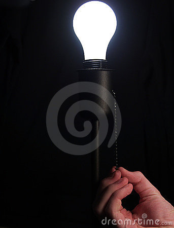 Free Turning On Lightbulb Stock Photo - 4227960