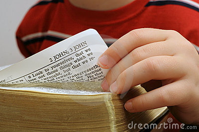 Turning the page of a bible