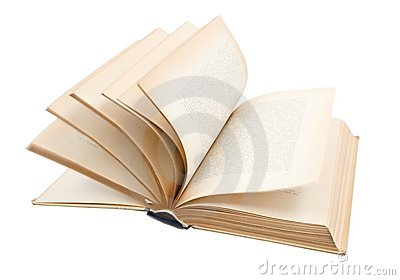Turning pages of old book