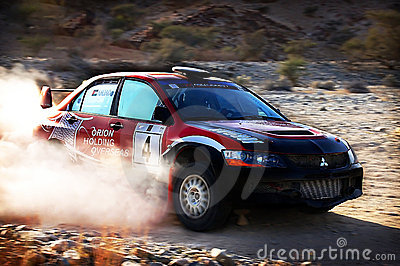 Turning Rally Car Editorial Stock Image