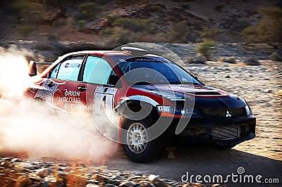 Turning Rally Car Editorial Stock Image
