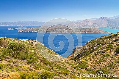 Mirabello bay with Spinalonga island