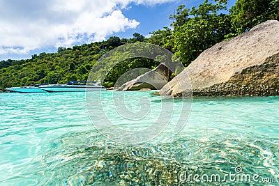 Turquoise bay of Andaman Sea