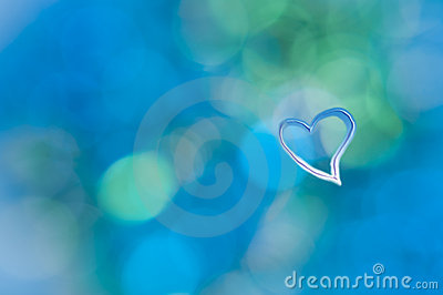 Turquoise blue abstract background grunge heart